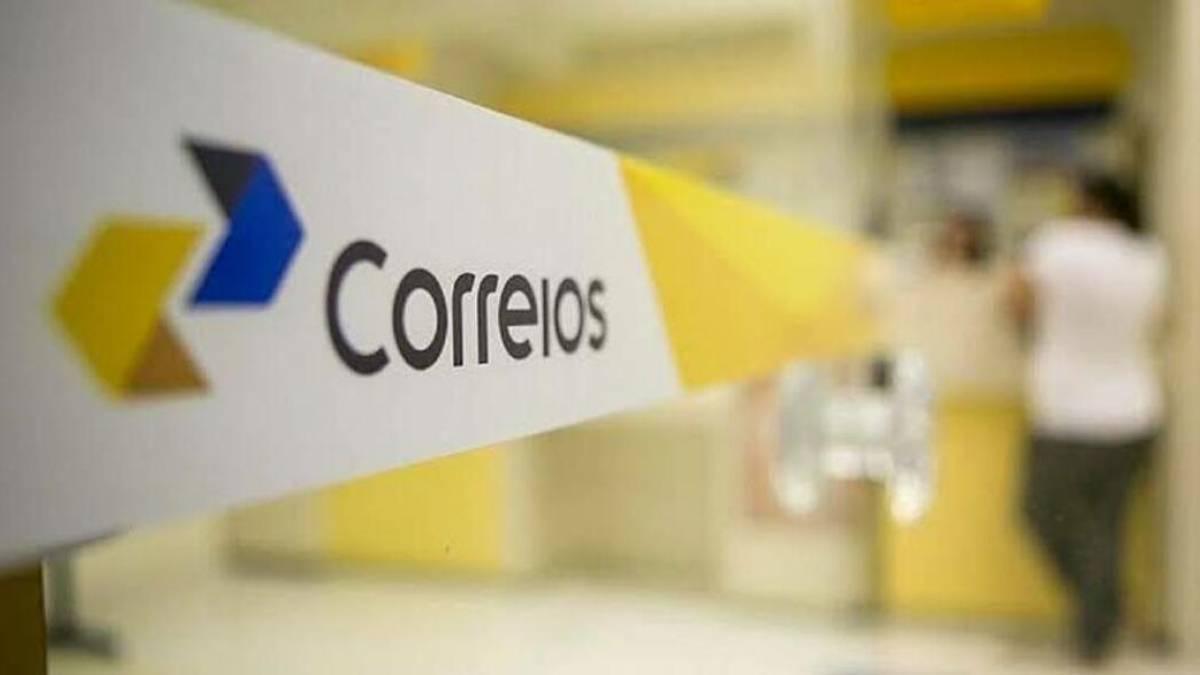 Fita dos correios em uma das agências no Brasil. (Reprodução/Correios)