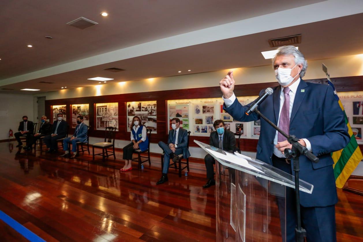 Governador Ronaldo Caiado (Vinicius Schmidt / SECOM)