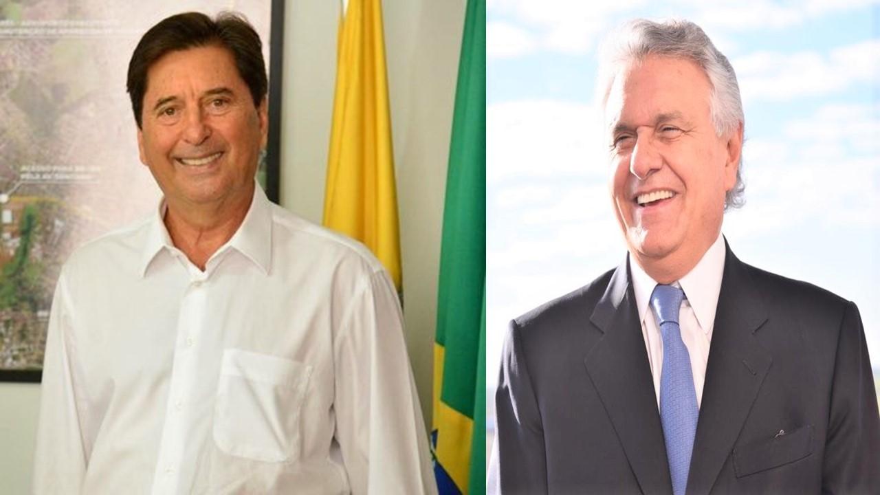 Maguito e Governador Ronaldo Caiado (Reprodução)