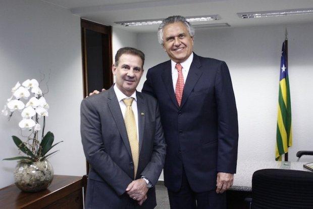 Vanderlan Cardoso e Ronaldo Caiado: aliança em 2020 sedimenta apoio à reeleição em 2022 (Reprodução/Arquivo)