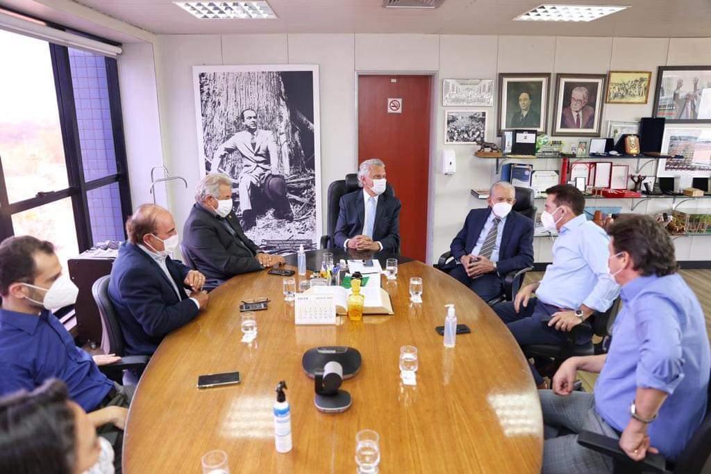Governador Ronaldo Caiado, Iris , Vanderlan e Wilder no Paço (Reprodução/Arquivo)