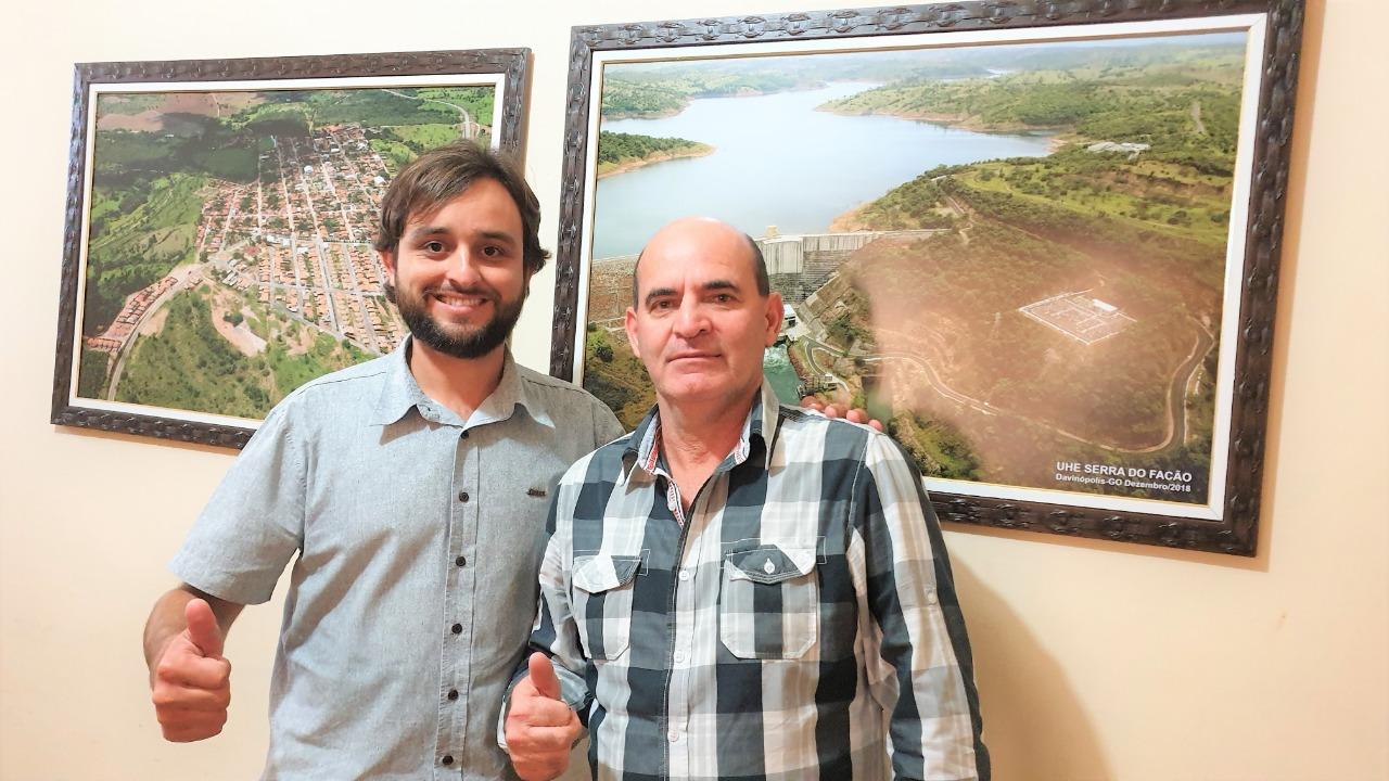 Diogo Rosa Nunes e o vice prefeito Nelson Machado (Arquivo/Sdnews)