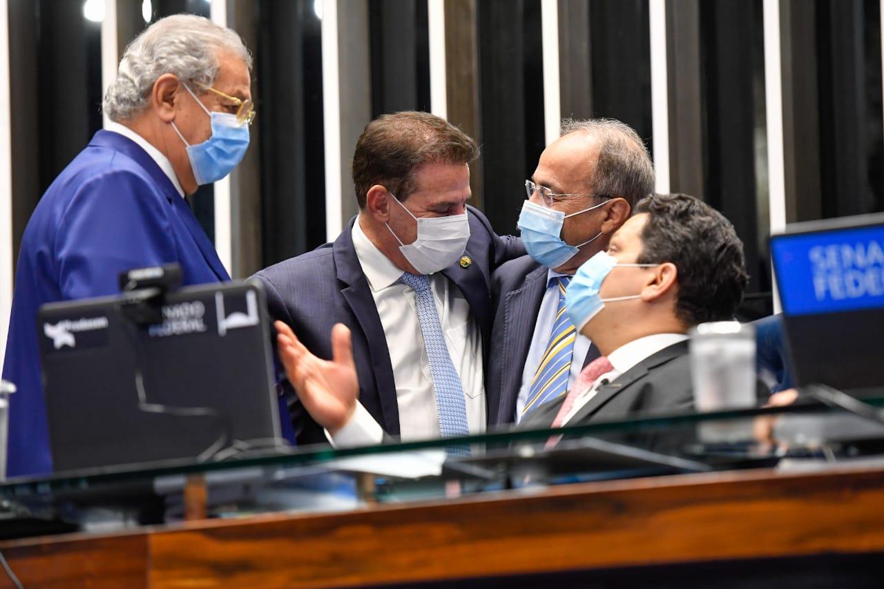 Senador Vanderlan Cardoso (PSD) durante sessão no Senado Federal, em Brasília.(Reprodução)