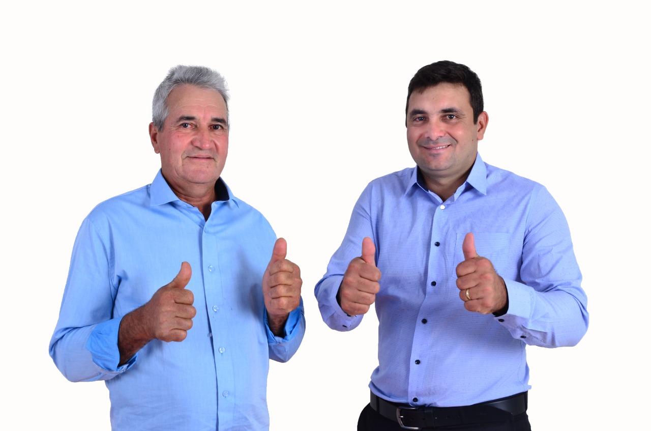 Os eleitos prefeito Gilmar Pereira e o vice Misael Brandão (Sdnews)