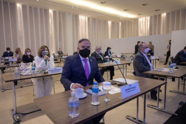 Sandro Mabel, presidente da Federação das Indústrias de Goiás (Fieg) no lançamento da Agenda Legislativa da Indústria