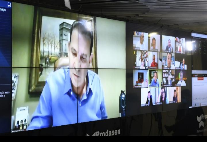 Senador Vanderlan Cardoso em sessão virtual do Senado Federal (Arquivo/Sdnews)