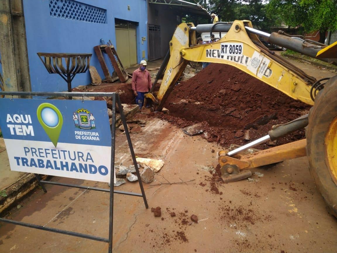 Limpeza de bueiros da Avenida Padre Wendel (Setor São José) e no Córrego Taquaral (Av. Gabriel Henrique de Araújo, Goiânia Viva)