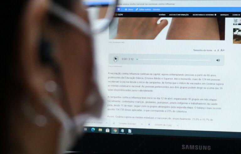 A inovação está disponível em todas as notícias publicadas no site goiania.go.gov.br desde o dia 17 de maio