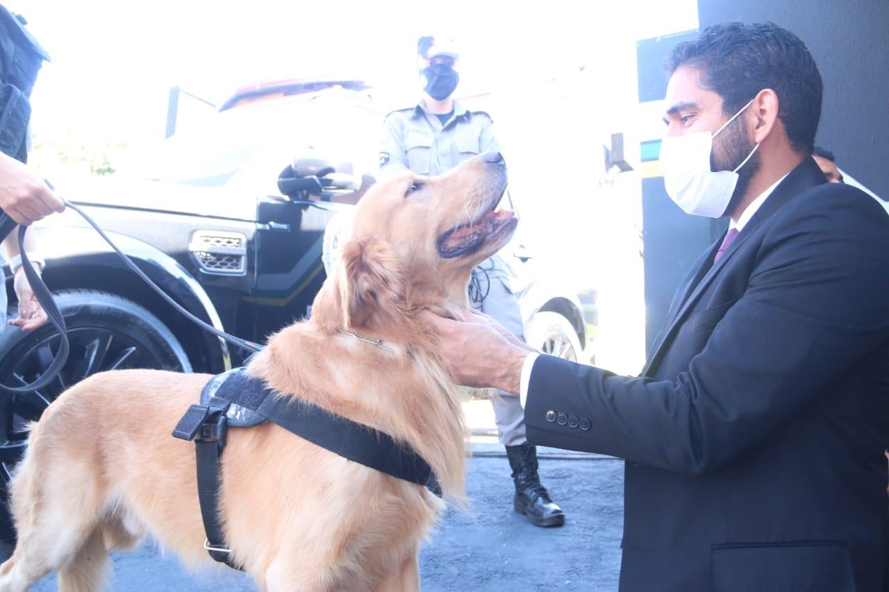 Unidade de Policiamento com Cães ganha estrutura própria e PM de Goiás recebe 20 novas viaturas, em manhã de fortalecimento da corporação (Fotos: Jota Eurípedes)