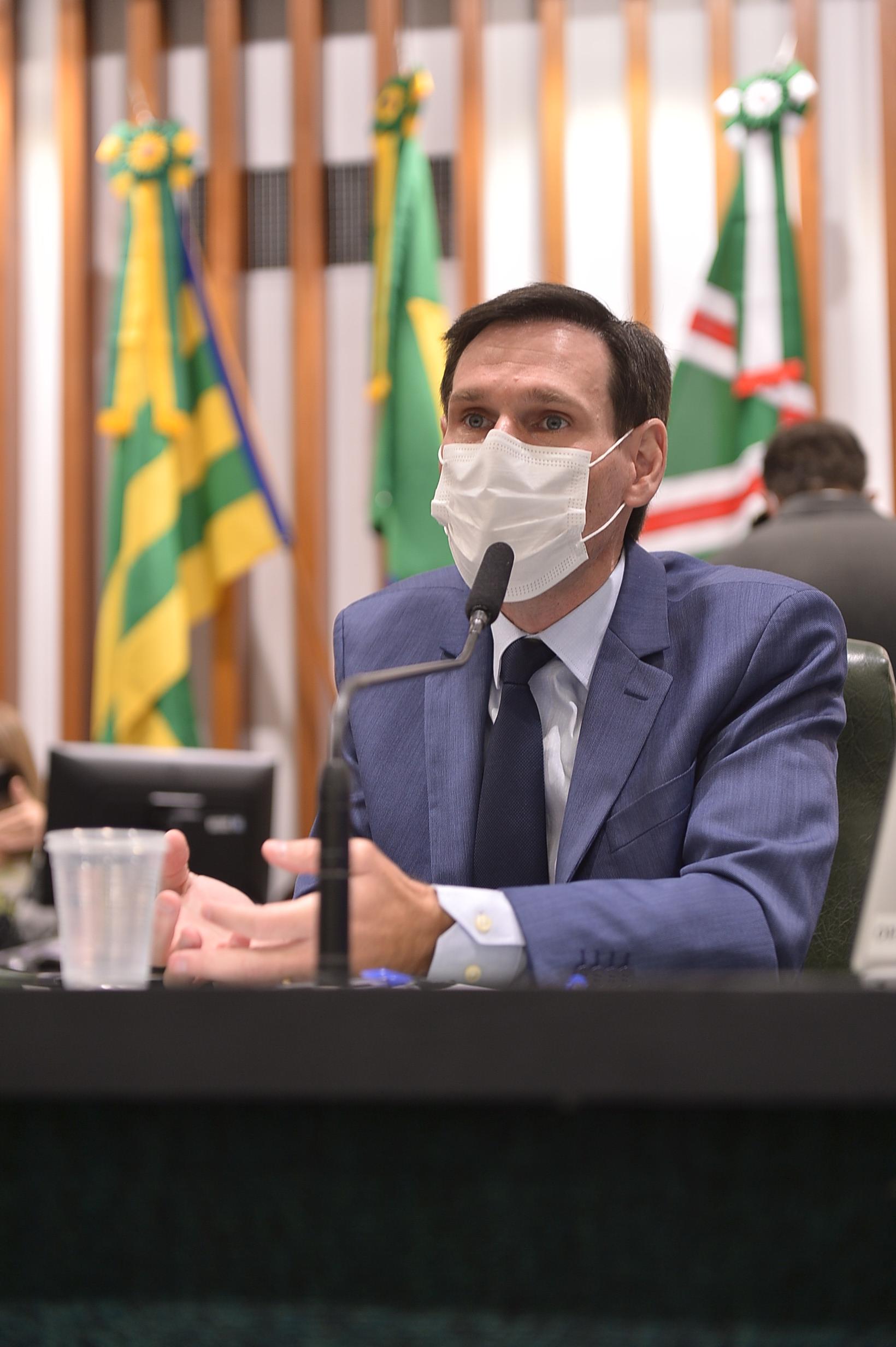 Presidente da Assembléia Legislativa do Estado de Goiás, deputado estadual Lissauver Vieira (Foto: Sérgio Rocha)