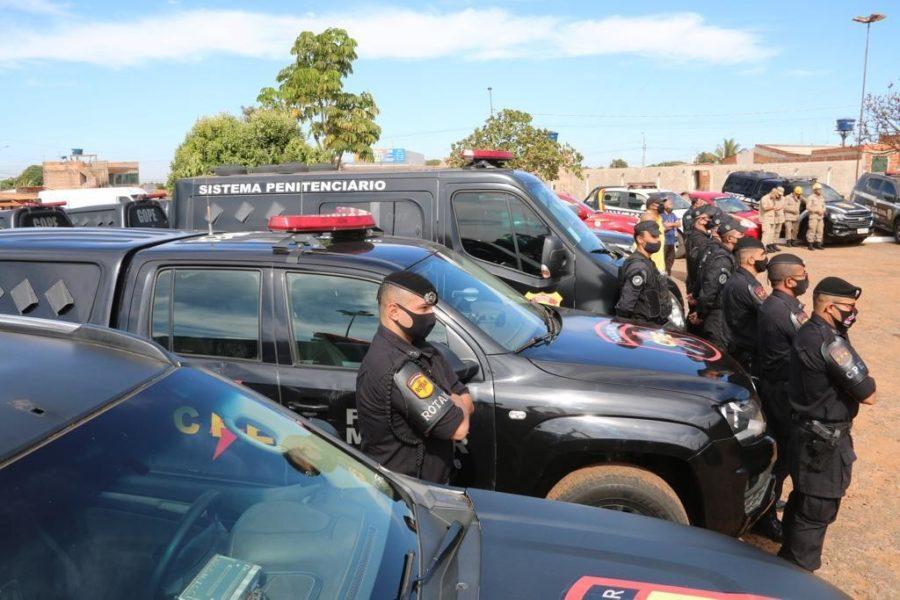 Operação é formada pela Polícia Militar, Polícia Civil, Polícia Técnico-Científica, Corpo de Bombeiros Militar e Sistema Prisional de Goiás e do DF (Foto: SSP-GO)