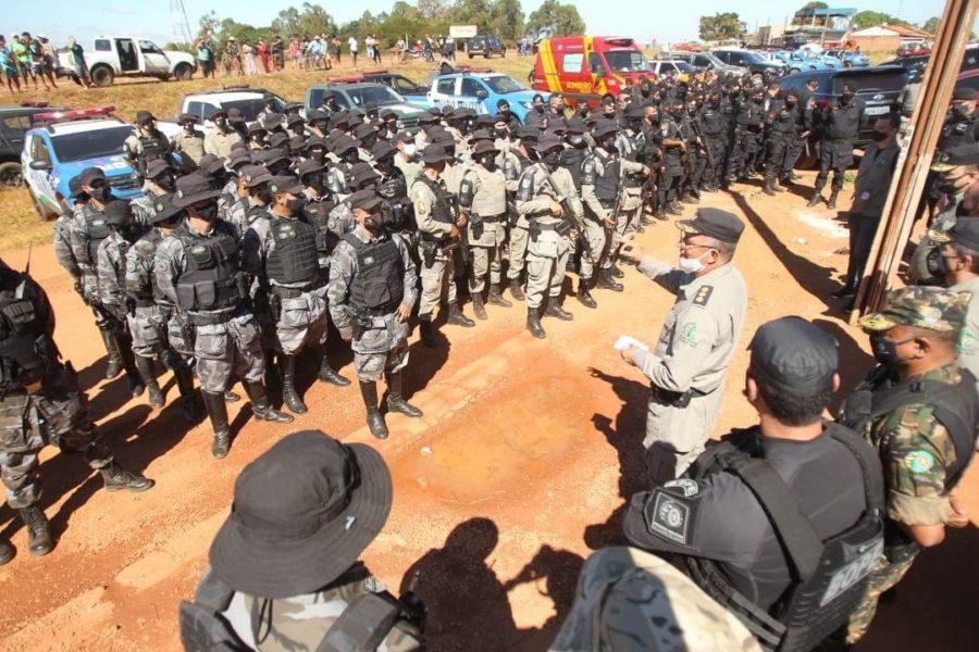 Operação de captura a Lázaro Barbosa durou 15 dias e mobilizou mais de 270 agentes de Goiás, Distrito Federal e das forças de segurança federais (Foto: Fábio Lima)