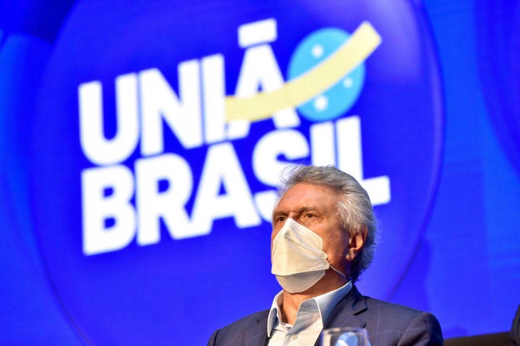 O governador Ronaldo Caiado durante Convenção Nacional do DEM, que estabelece fusão com PSL e cria novo partido, o União Brasil